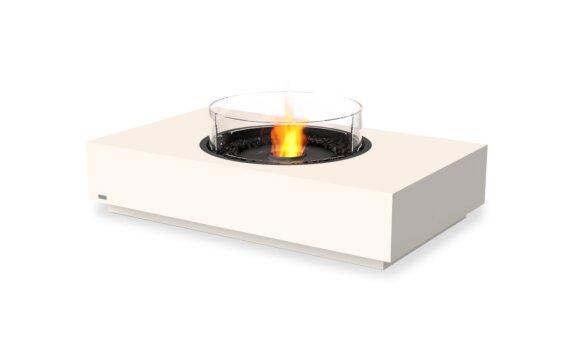 Martini 50 Fire Table - Ethanol - Black / Bone / Optional Fire Screen by EcoSmart Fire