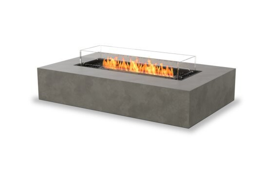 Wharf 65 Fire Table - Ethanol - Black / Natural / Optional Fire Screen by EcoSmart Fire