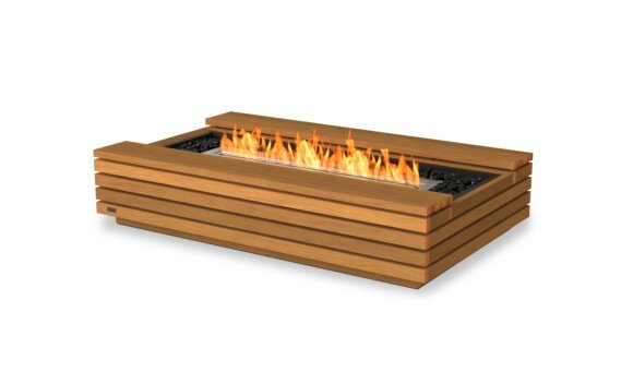 Cosmo 50 Fire Table - Ethanol / Teak by EcoSmart Fire