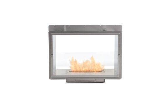 Firebox 800DB Double Sided Fireplace - Ethanol / Stainless Steel / Rear View by EcoSmart Fire