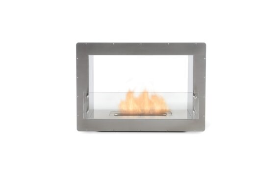 Firebox 800DB Double Sided Fireplace - Ethanol / Stainless Steel / Front View by EcoSmart Fire