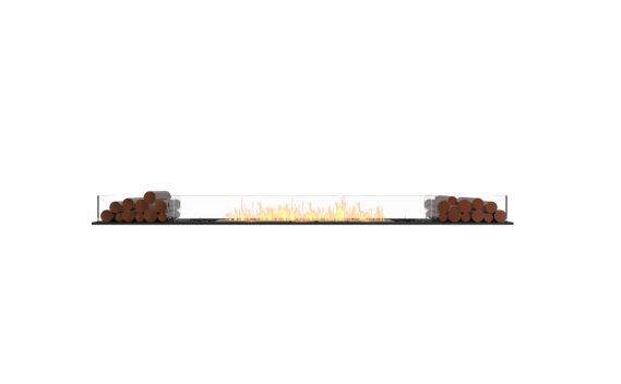 Flex 104BN.BX2 Bench - Ethanol / Black / Installed View by EcoSmart Fire