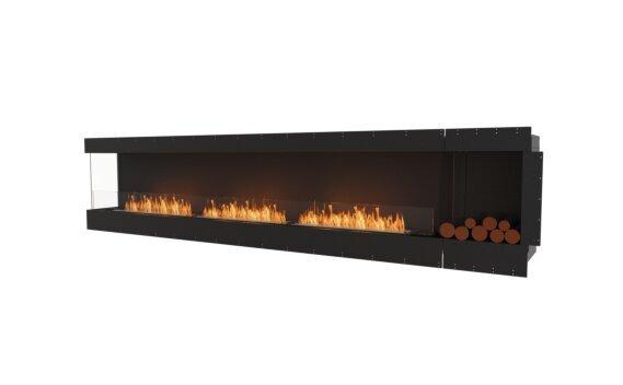 Flex 140LC.BXR Left Corner - Ethanol / Black / Uninstalled View by EcoSmart Fire