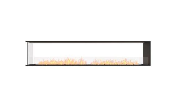 Flex 104PN Peninsula - Ethanol / Black / Installed View by EcoSmart Fire