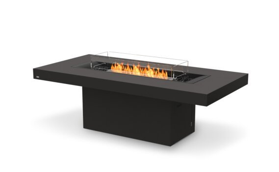 Gin 90 (Dining) Fire Table - Ethanol / Graphite / Optional Fire Screen by EcoSmart Fire
