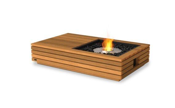Manhattan 50 Fire Table - Ethanol / Teak by EcoSmart Fire