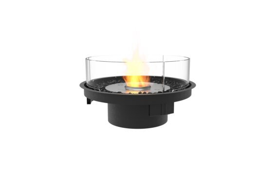 Round 20 Fire Pit Kit - Ethanol / Black / Indoor Safety Tray by EcoSmart Fire
