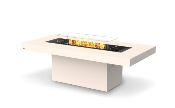 Gin 90 (Dining) Fire Table - Gas LP/NG / Bone by EcoSmart Fire