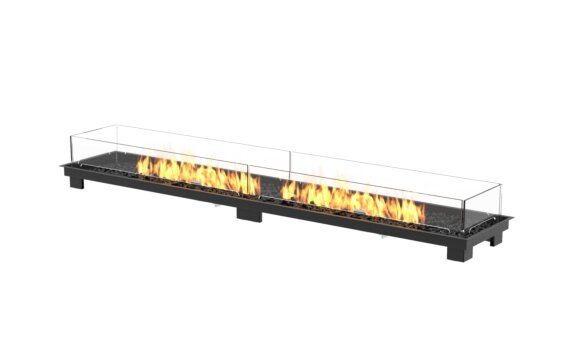 Linear 90 Fire Pit Kit - Gas LP/NG / Black by EcoSmart Fire