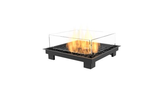 Square 22 Fire Pit Kit - Gas LP/NG / Black by EcoSmart Fire