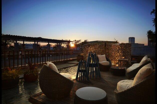 Outdoor Area - Stix 8 Freestanding Fireplace by EcoSmart Fire
