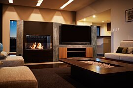 Firebox 800DB Double Sided Fireplace - In-Situ Image by EcoSmart Fire