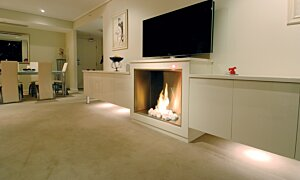 Firebox 900SS Fireplace Insert - In-Situ Image by EcoSmart Fire