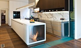 Celebrity Chef's Kitchen Kitchen Interior Designs Fireplace Insert Idea