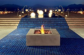 Base 40 Freestanding Fireplace - In-Situ Image by EcoSmart Fire
