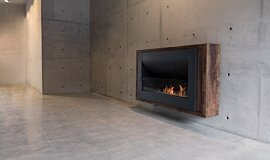 Max Brenner Commercial Fireplaces Curved Fireplace Idea