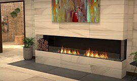 Lounge Area Linear Fires Flex Fireplace Idea