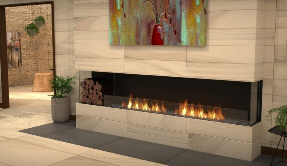 Lounge Area - Flex 104BY.BXL Flex Fireplace by EcoSmart Fire