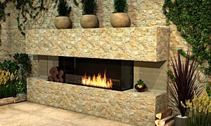Flex 68BY.BX2 Flex Fireplace - In-Situ Image by EcoSmart Fire