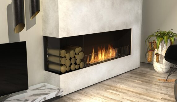 Living Room - Flex 68LC.BXL Flex Fireplace by EcoSmart Fire