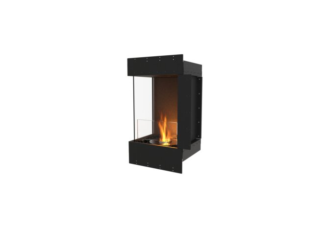 Flex 18LC Left Corner - Ethanol / Black / Uninstalled View by EcoSmart Fire