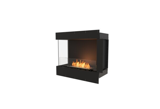 Flex 32LC Left Corner - Ethanol / Black / Uninstalled View by EcoSmart Fire