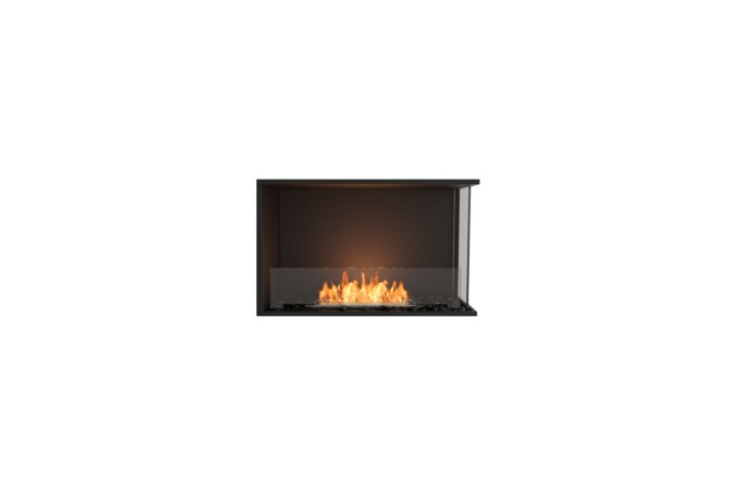 Flex 32RC Right Corner - Ethanol / Black / Installed View by EcoSmart Fire