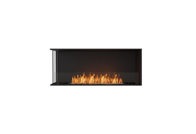 Flex 50LC Left Corner - Ethanol / Black / Installed View by EcoSmart Fire