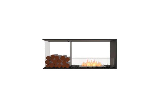 Flex 50PN.BXL Flex Fireplace - Ethanol / Black / Installed View by EcoSmart Fire