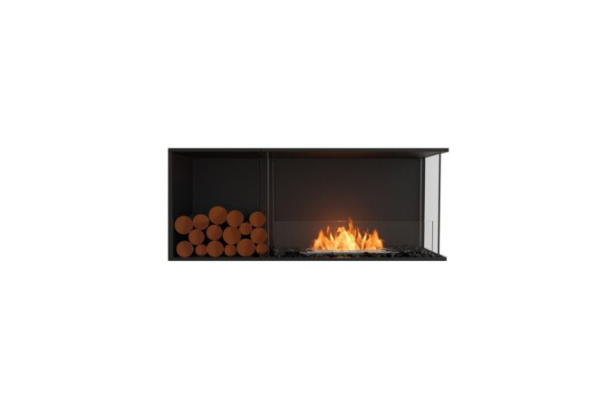 Flex 50RC.BXL Flex Fireplace - Ethanol / Black / Installed View by EcoSmart Fire