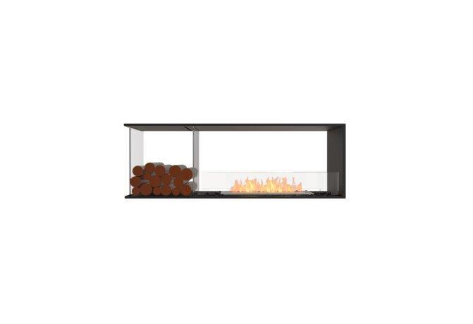Flex 60PN.BXL Peninsula - Ethanol / Black / Installed View by EcoSmart Fire