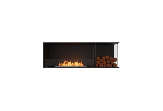 Flex 60RC.BXR Right Corner - Ethanol / Black / Installed View by EcoSmart Fire