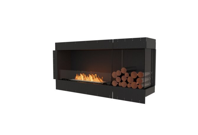 Flex 60RC.BXR Right Corner - Ethanol / Black / Uninstalled View by EcoSmart Fire