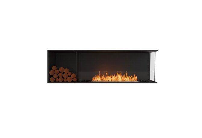 Flex 68RC.BXL Right Corner - Ethanol / Black / Installed View by EcoSmart Fire