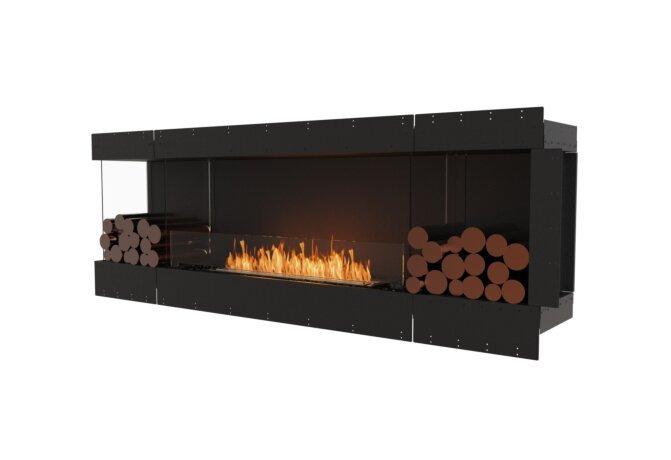 Flex 86LC.BX2 Left Corner - Ethanol / Black / Uninstalled View by EcoSmart Fire