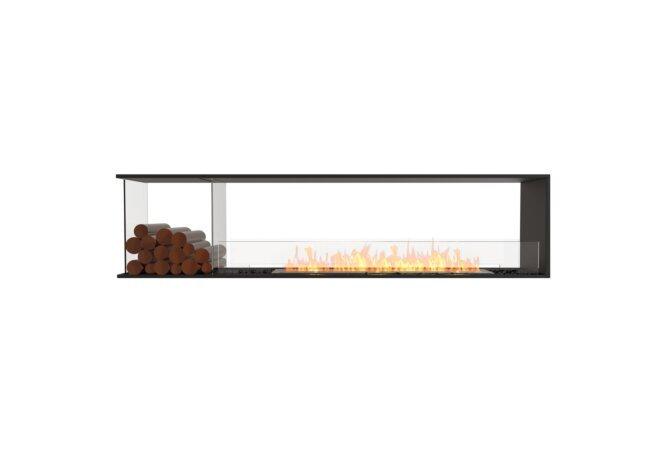 Flex 86PN.BXL Peninsula - Ethanol / Black / Installed View by EcoSmart Fire