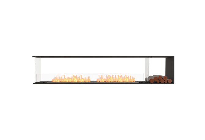 Flex 104PN.BXR Peninsula - Ethanol / Black / Installed View by EcoSmart Fire