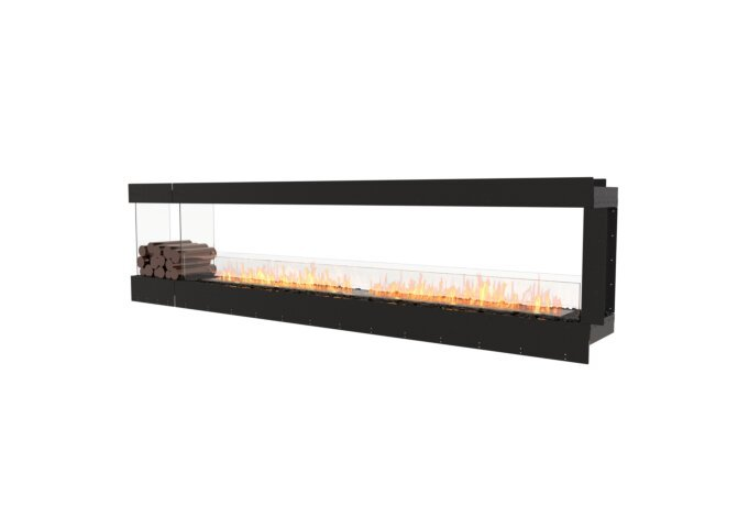 Flex 122PN.BXL Peninsula - Ethanol / Black / Uninstalled View by EcoSmart Fire