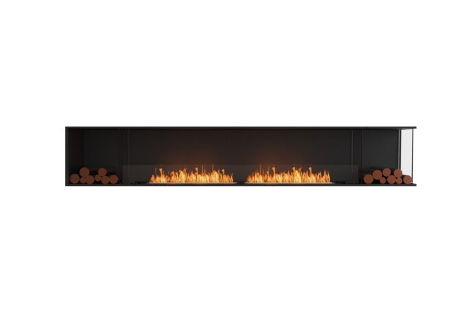 Flex 122RC.BX2 Right Corner - Ethanol / Black / Installed View by EcoSmart Fire