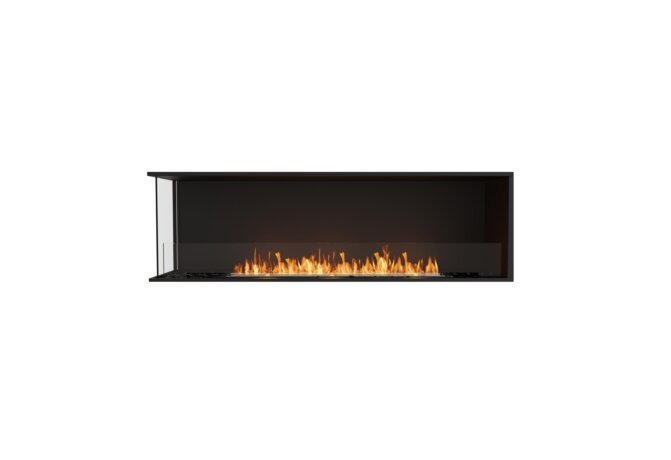 Flex 68LC Left Corner - Ethanol / Black / Installed View by EcoSmart Fire