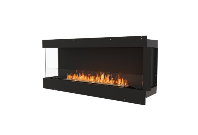 Flex 68LC Left Corner - Ethanol / Black / Uninstalled View by EcoSmart Fire