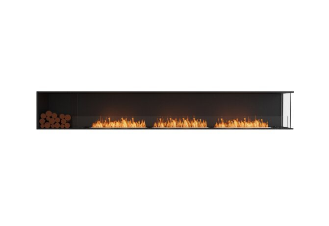 Flex 140RC.BXL Right Corner - Ethanol / Black / Installed View by EcoSmart Fire