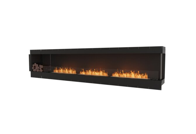 Flex 140RC.BXL Right Corner - Ethanol / Black / Uninstalled View by EcoSmart Fire