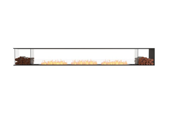Flex 158PN.BX2 Peninsula - Ethanol / Black / Installed View by EcoSmart Fire
