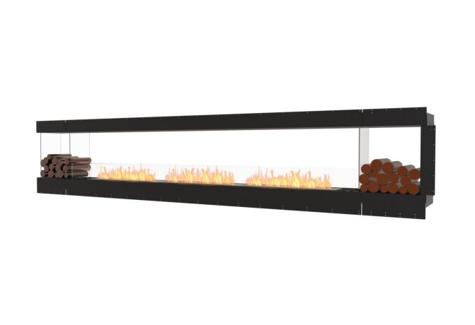 Flex 158PN.BX2 Peninsula - Ethanol / Black / Uninstalled View by EcoSmart Fire