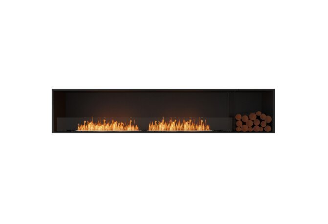 Flex 104SS.BXR Single Sided - Ethanol / Black / Installed View by EcoSmart Fire