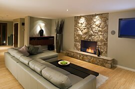 Flex 32SS Flex Fireplace - In-Situ Image by EcoSmart Fire