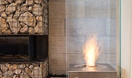 New American Home Commercial Fireplaces Designer Fireplace Idea
