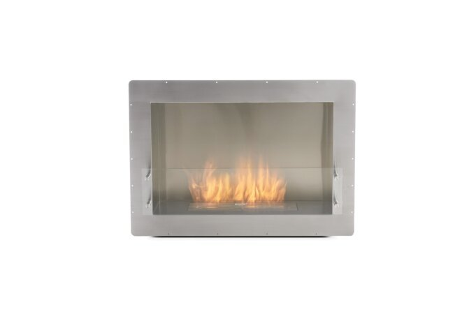 Firebox 800SS Fireplace Insert - Ethanol / Stainless Steel / Front View by EcoSmart Fire