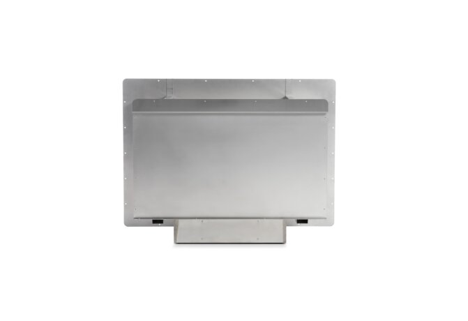 Firebox 800SS Fireplace Insert - Ethanol / Stainless Steel / Rear View by EcoSmart Fire